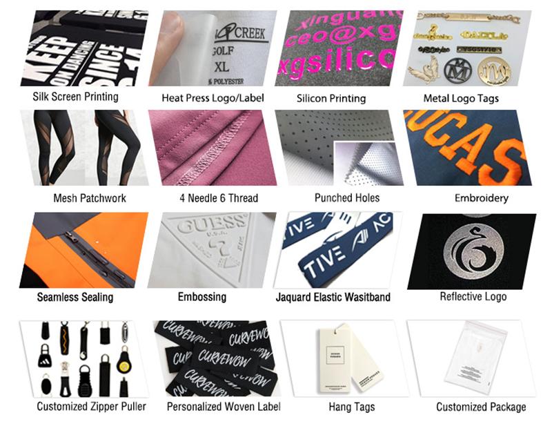 Customized Logo Techniques for printed leggings